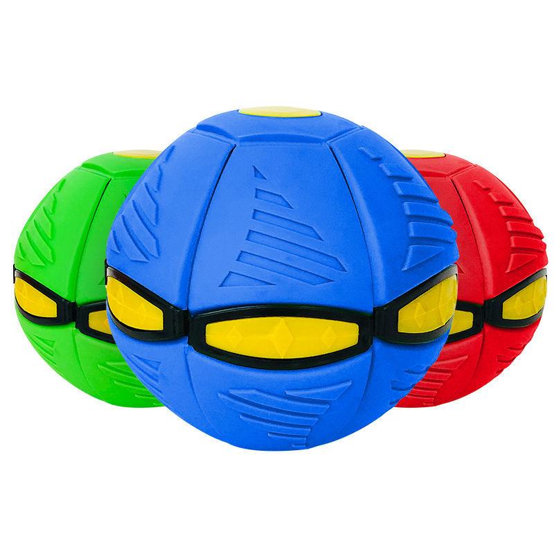 国庆儿童玩具魔幻飞碟球抖音宝宝运动户外脚踩扁球变形球3岁球类主图8
