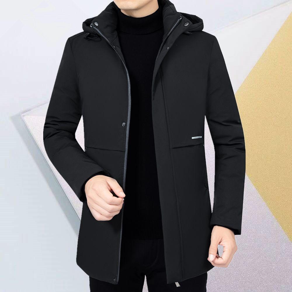 富贵鸟2020新款冬装棉衣休闲棉服中年男士厚棉袄中长款外套爸爸装