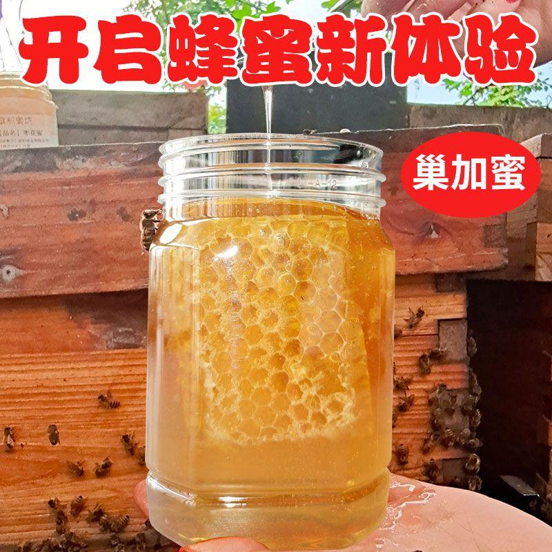 蜂蜜正宗纯正天然蜂巢蜜百花蜂蜜农家自产蜂场直发