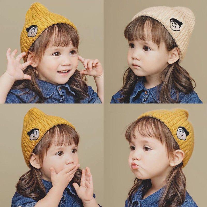 儿童宝宝毛线帽韩版针织秋冬季新款男孩女孩可爱套头保暖护耳帽子