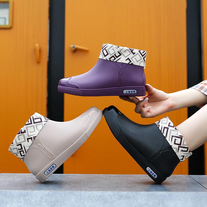 【韩版 防滑 耐磨】雨鞋女中筒时尚成人 水鞋女韩版学生防滑短筒