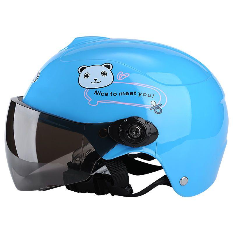 夏季儿童哈雷头盔男女通用防晒镜片宝宝头盔小孩子可爱安全帽530