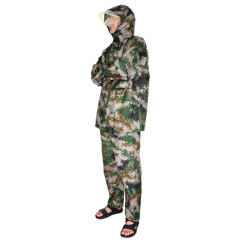 54148-WS嬉水迷彩成人雨衣防暴雨全身新款套装单人女款骑行雨衣防暴雨男-详情图