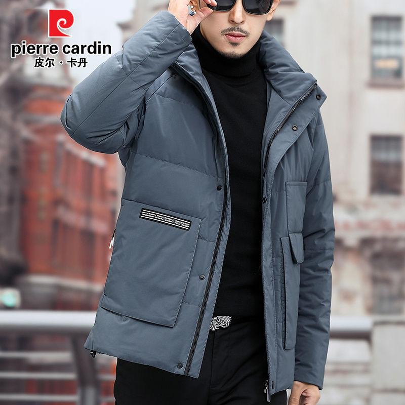 皮尔卡丹品牌羽绒服男士商务冬装保暖加厚中青年休闲脱卸帽外套