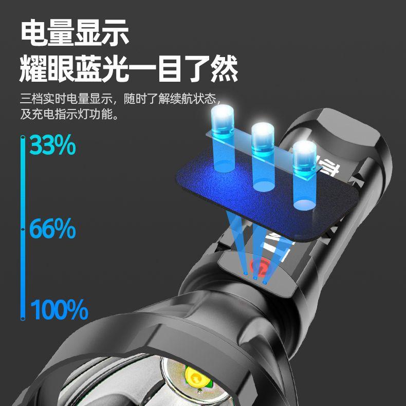 便宜的特种兵强光手电筒超亮可充电户外远射家用便携防水远光led氙气灯