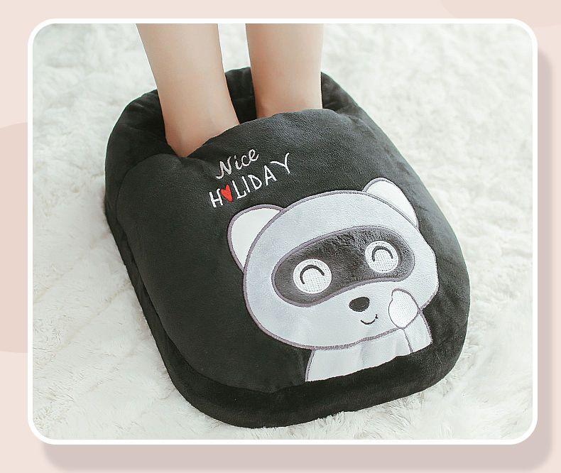 A暖脚宝插电加热烘脚器办公室卡通保暖脚垫毛绒电保暖鞋暖脚宝神器