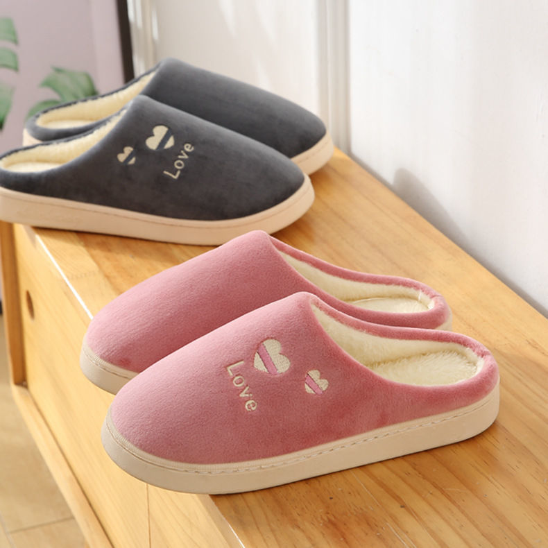 居家棉鞋棉拖鞋女可愛男冬季新款情侶厚底保暖寢室家居鞋家用室內防滑