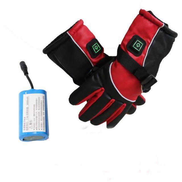 冬季保暖发热手套充电加热防水防寒男女电动车摩托车电热加热手套