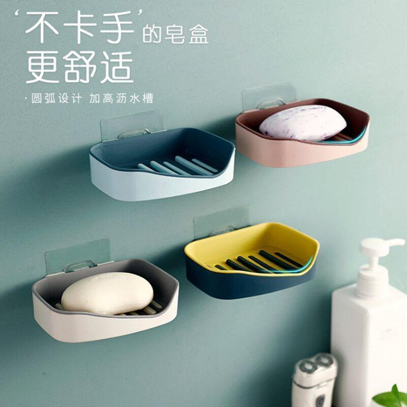 创意沥水大号肥皂盒卫生间浴室旅行方形双层简约塑料时尚香皂盒子