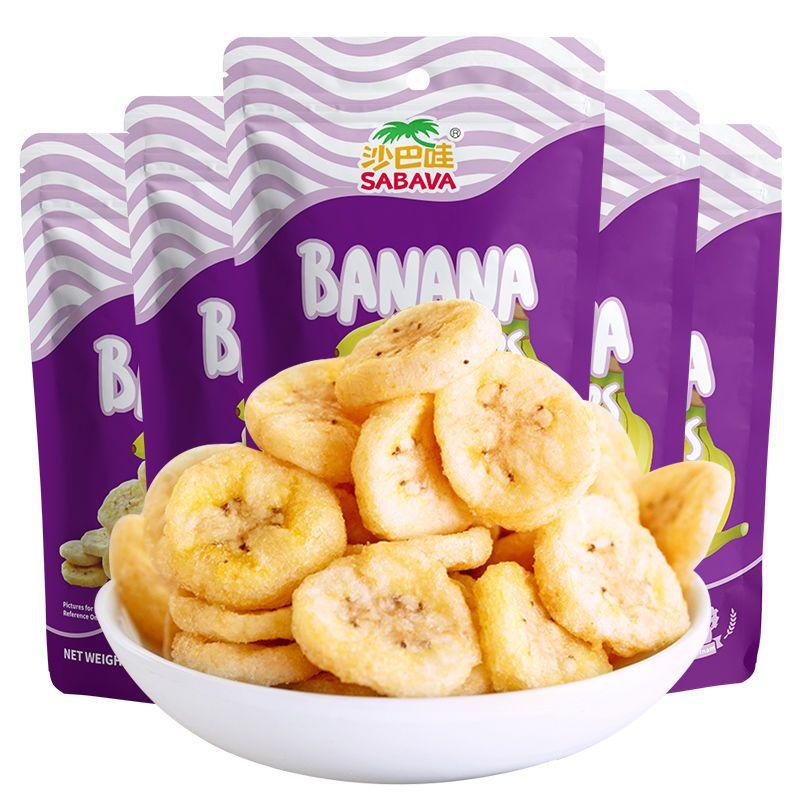 沙巴哇香蕉干100g越南进口水果干脱水果蔬脆片香蕉片孕妇零食小吃