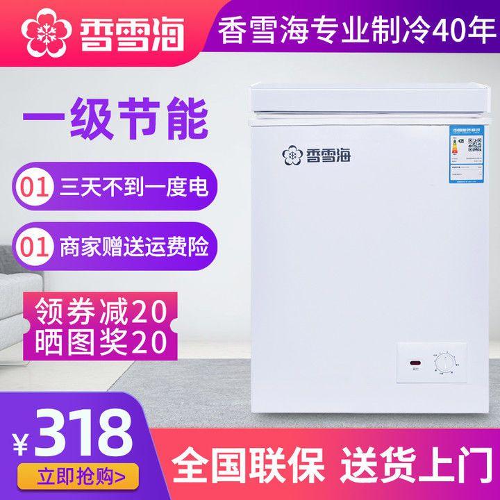香雪海冷柜一级节能小型冰柜家用商用大容量冷藏保鲜冷冻柜单双温