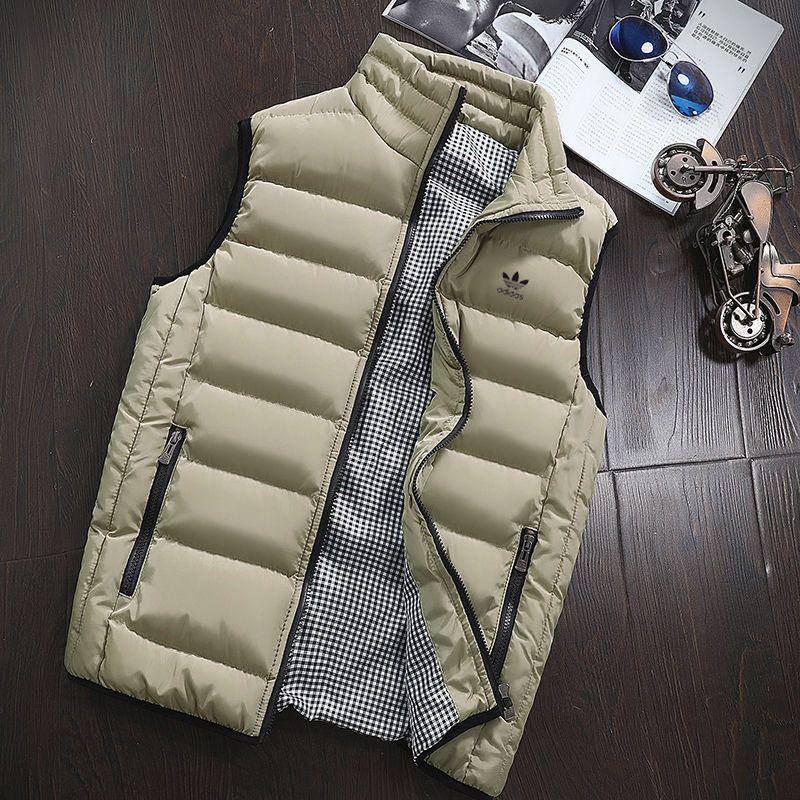 Adidas愛迪達 耐吉2020男女同款秋冬季三葉草立領保暖運動背心外套棉坎肩羽絨棉馬夾