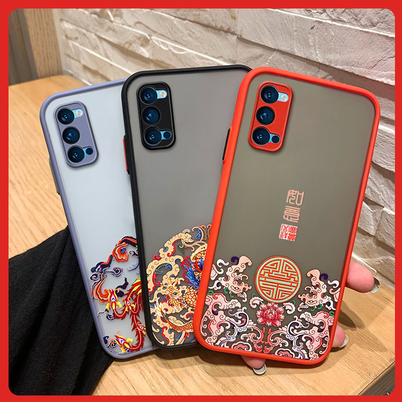 OPPOreno4手机壳男女可爱硅胶网红超薄新款reno4pro全包防摔软壳