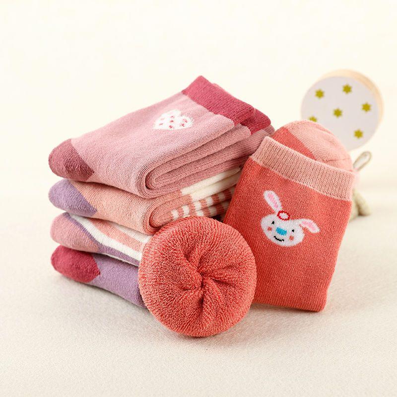 儿童袜子纯棉秋冬季加厚男童女童保暖舒适中大童宝宝婴儿中筒袜子