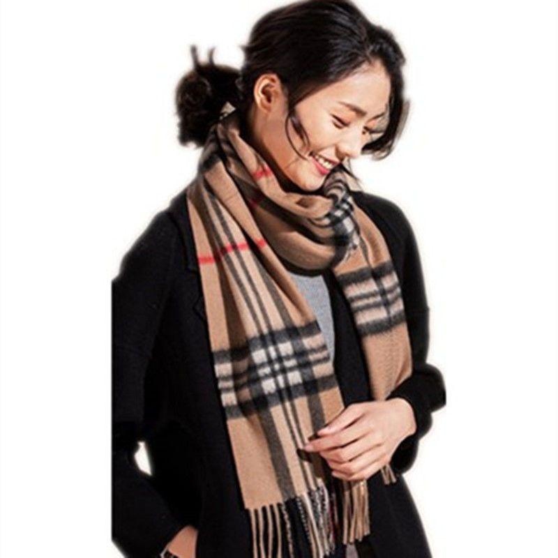 恒源祥羊绒围巾女秋冬季条纹百搭高档100羊绒围脖羊毛小披肩外搭