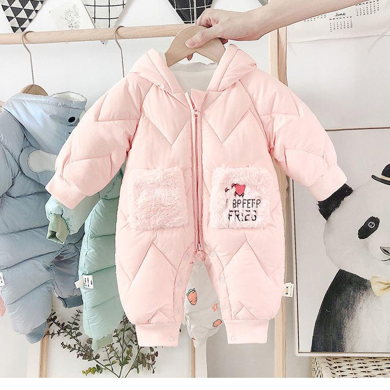 88617-婴儿连体衣冬装加厚加绒超萌网红新生儿衣服女宝宝保暖外出抱爬服-详情图