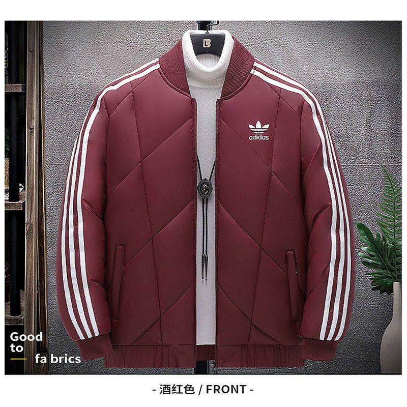 現貨正品 Adidas愛迪達 耐吉棉衣男三葉草外套冬季加大碼立領新款羽絨棉服男加厚保暖棉襖男