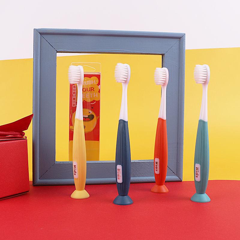 品牌儿童牙刷软毛6岁以上舌苔清洁小头护齿可爱小孩牙刷牙杯套装
