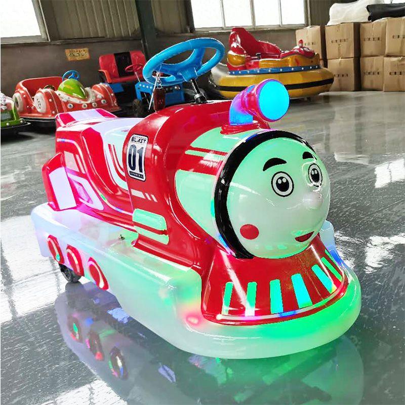 新款广场公园摆摊通体发光发亮双人电动 游乐设备碰碰车玩具车