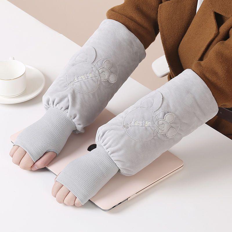 格子兔工作套指袖套长款套袖ins潮学生短款护袖可爱儿童手袖头