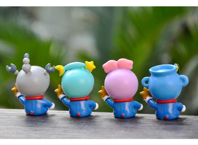 哆啦A夢星座盲盒手辦動漫周邊卡通叮當貓公仔玩具藍胖子模型擺件~mche18815--白開水