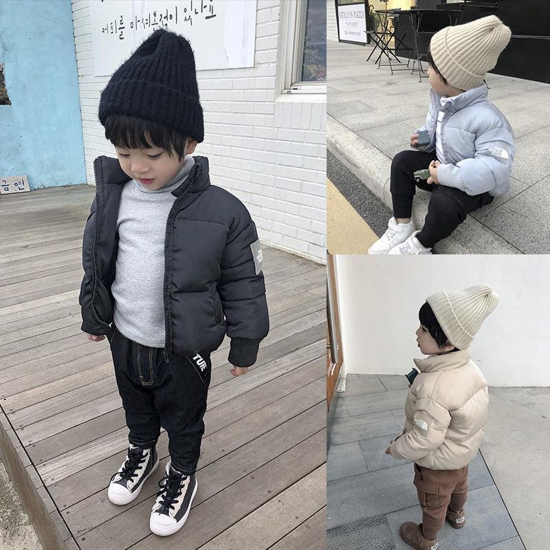 2021年新款童装韩版男童冬装保暖棉服棉衣外套中大儿童立领棉袄潮