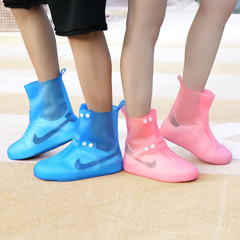 防水鞋套男女雨鞋套儿童雨天防雨防护高筒加厚防滑耐磨底脚套雨靴