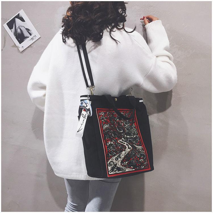 韩版男女斜跨包公文包职业通勤简约单肩大包
