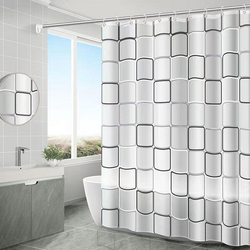 卫生间浴帘防霉防水浴帘套装