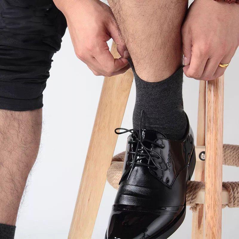 浪莎袜子男士纯棉防臭长袜秋冬厚男中筒袜全棉四季加厚长筒男袜子