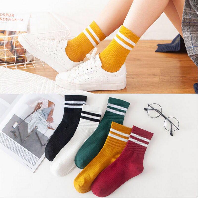 秋冬新款袜子女中筒袜小雏菊中筒袜女士ins潮流美腿塑形长筒袜