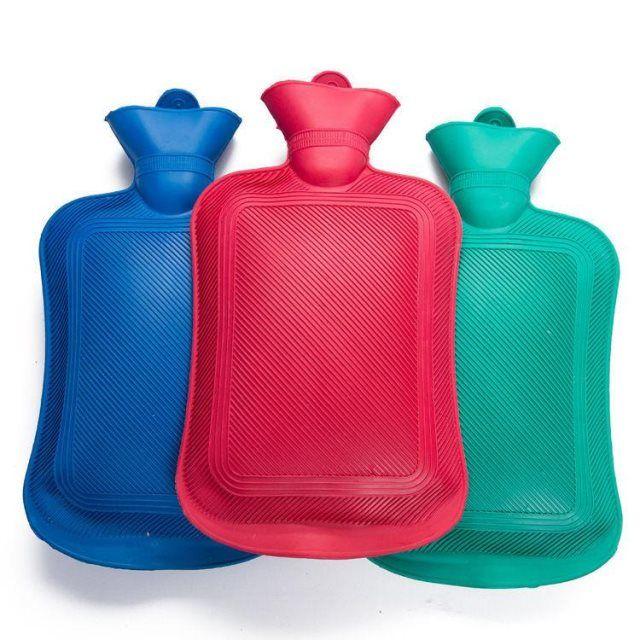 老式冲水橡胶热水袋加厚防爆注水暖水袋暖手宝小号大号绒布套暖宫