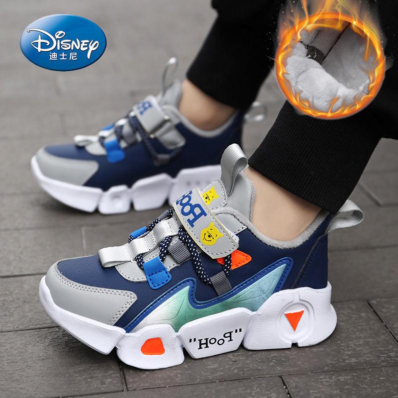 迪士尼男童鞋子2020冬季新款儿童二棉鞋加绒保暖运动鞋女孩中小童