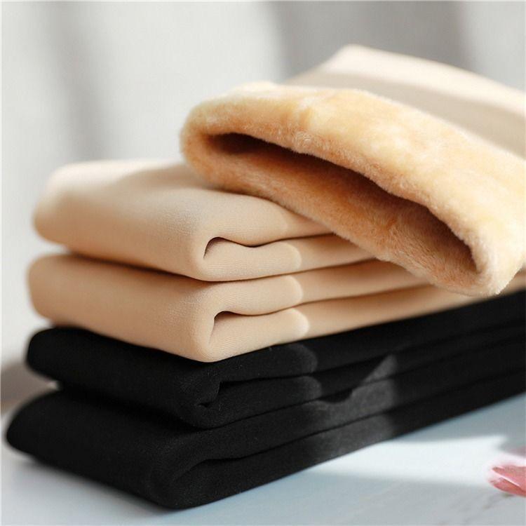 冬季加绒光腿肤色神器高腰打底裤女加厚外穿绒裤肉色裸感保暖棉裤