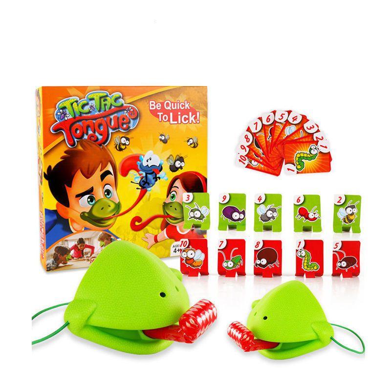 【抖音同款】创意桌面游戏蜥蜴面具青蛙吐舌头儿童解压亲子玩具