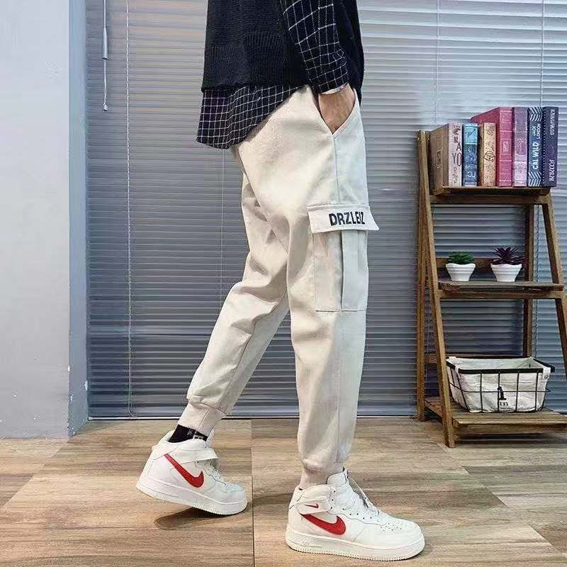 工装裤男秋冬季男士潮牌工装裤韩版学生