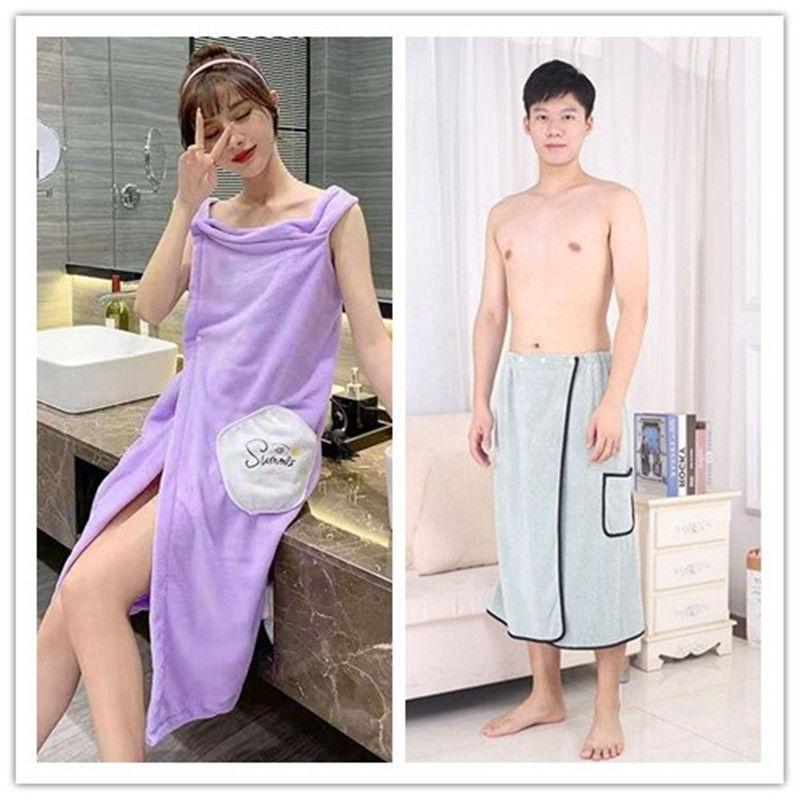 2021可穿可裹加长吊带裙浴巾女成人家用宽松比纯棉吸水速干不掉毛