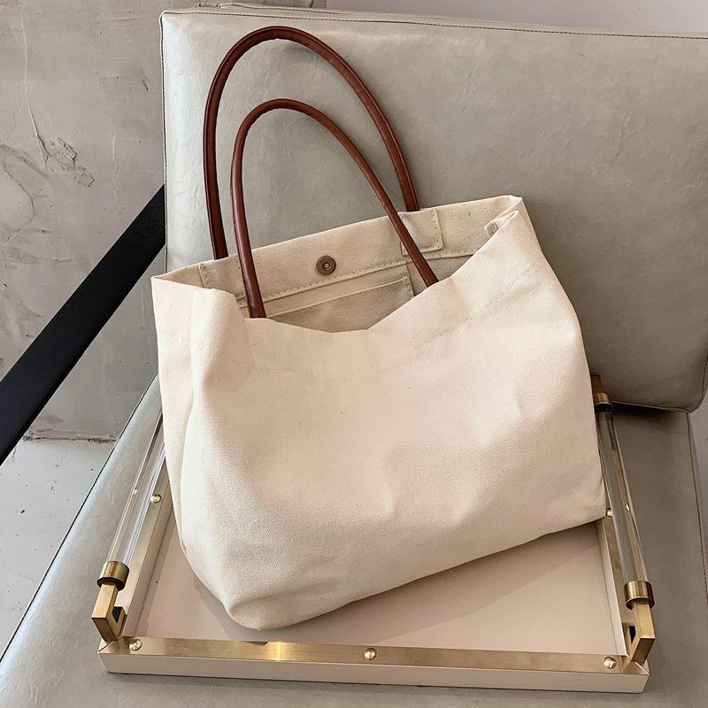 大容量帆布包包女新款韩版网红单肩托特包女ins学院风购物袋