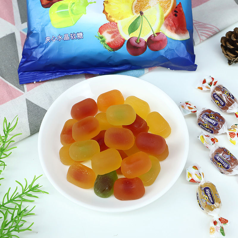 KDV俄罗斯进口金蜻蜓什锦水果味夹心软糖小蜜蜂原装糖正品糖零食