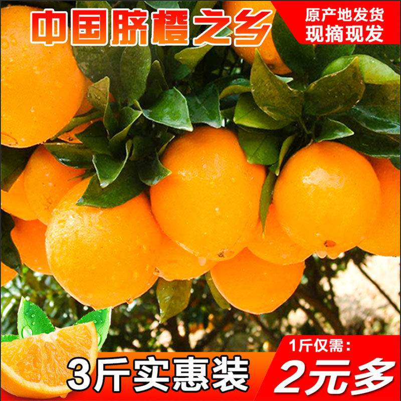 湖北秭归高山脐橙当季新鲜水果甜橙应季孕妇水果批发整箱3/5/9