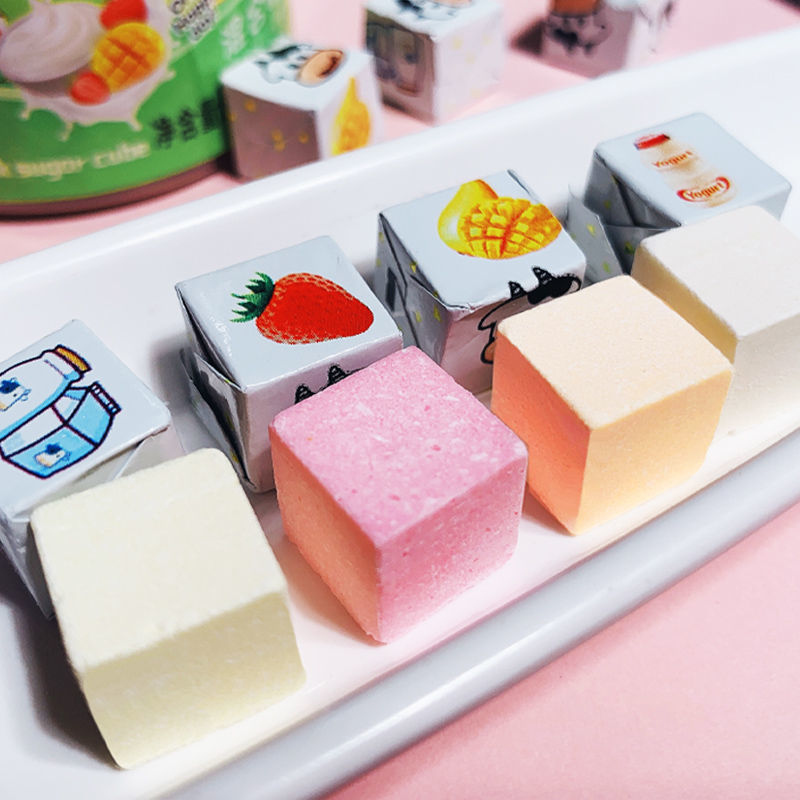 奶酪糖小方块糖果多口味奶糖干吃奶片牛奶棒