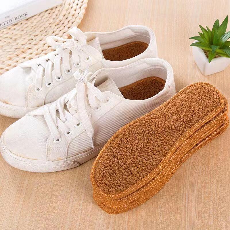 多买多送秋冬季加厚男女保暖棉绒厚鞋垫仿羊毛加绒吸汗透气防臭
