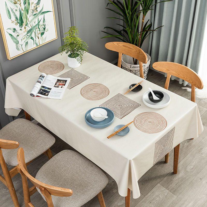 桌布防水防油防烫餐桌长方桌家用北欧风PVC茶几布桌旗ins台布网红