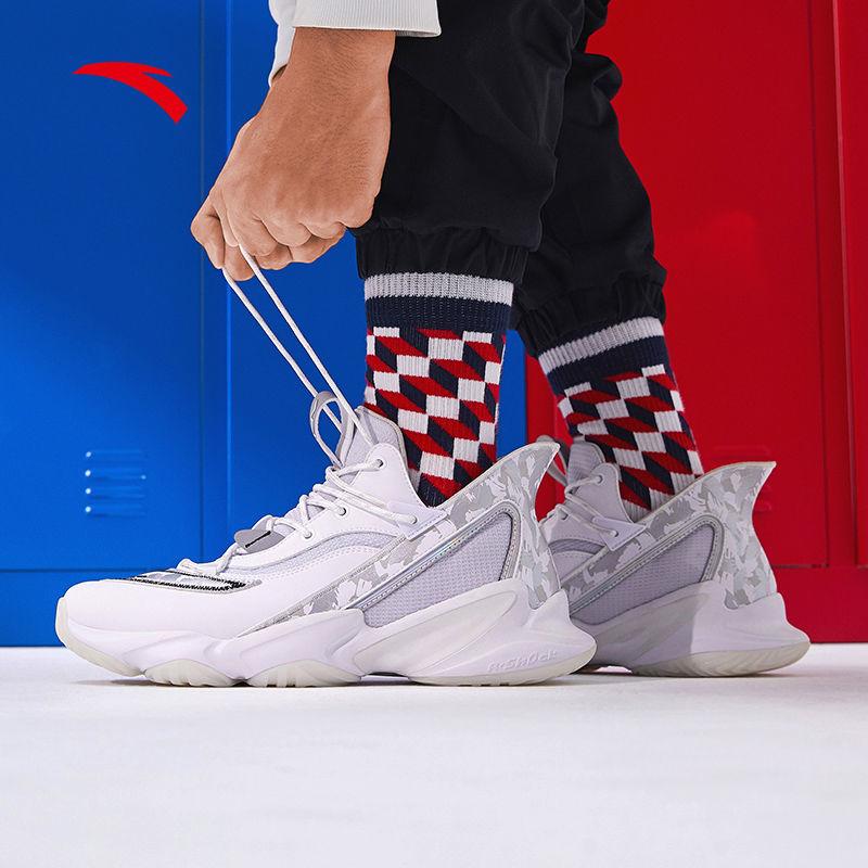 安踏篮球鞋男原创玩家国潮2021新款运动鞋日常训练鞋子11941662S