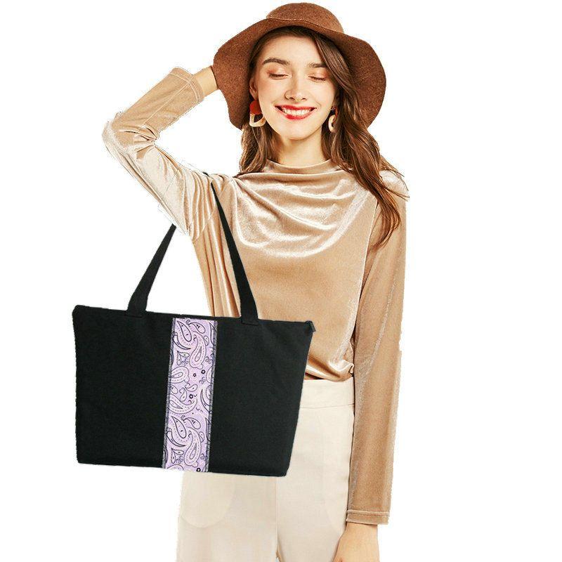 女单肩包大容量环保妈妈购物买菜袋