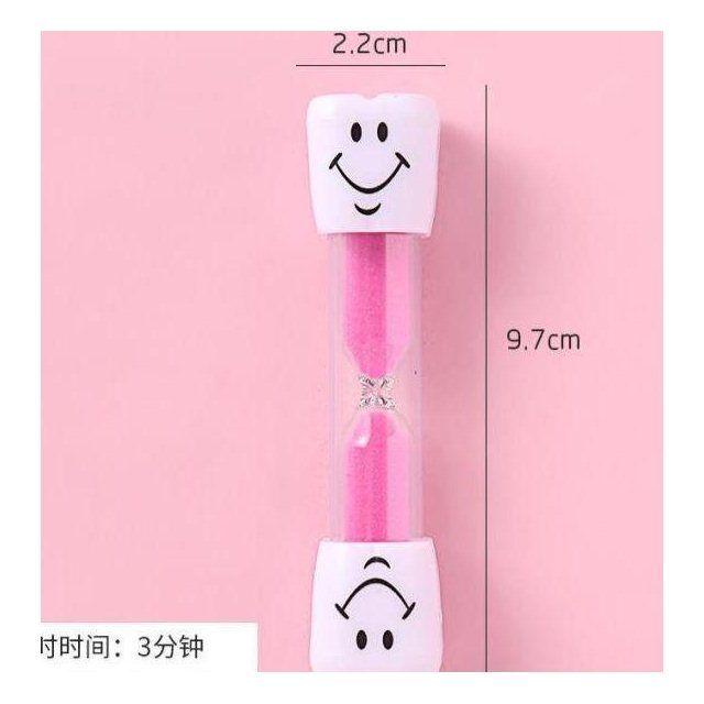 儿童刷牙沙漏计时器三分钟时间笑脸摆件塑料防摔漏沙斗创意礼品