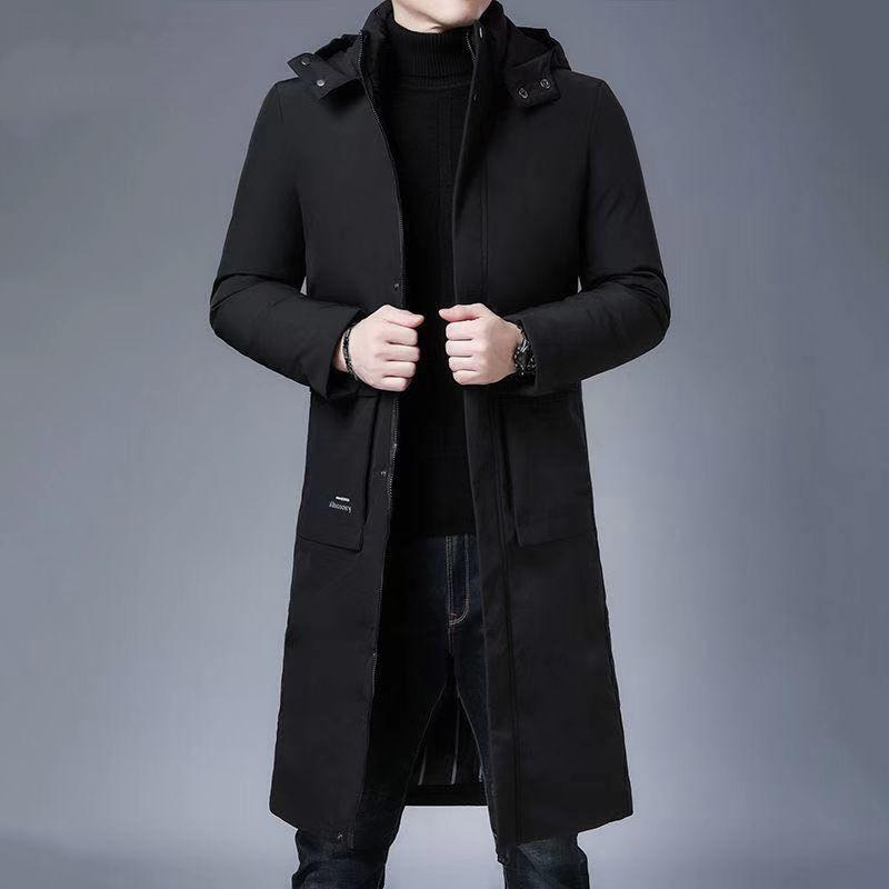 男士加厚过膝长款羽绒棉服大码男装冬装保暖棉袄棉衣爸爸装外套