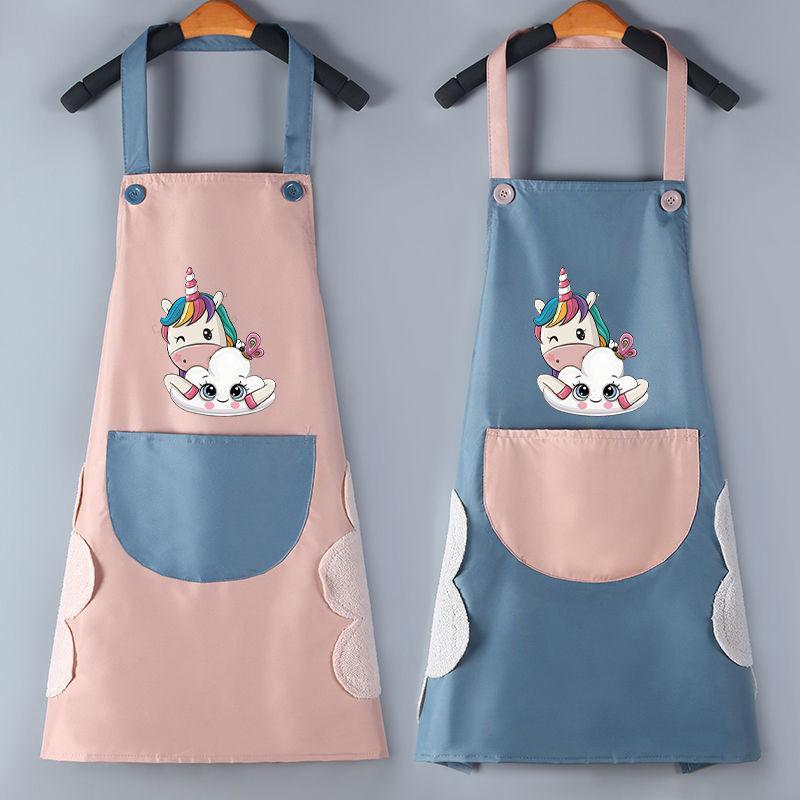 厨房围裙防水防油家用时尚可爱男女通用