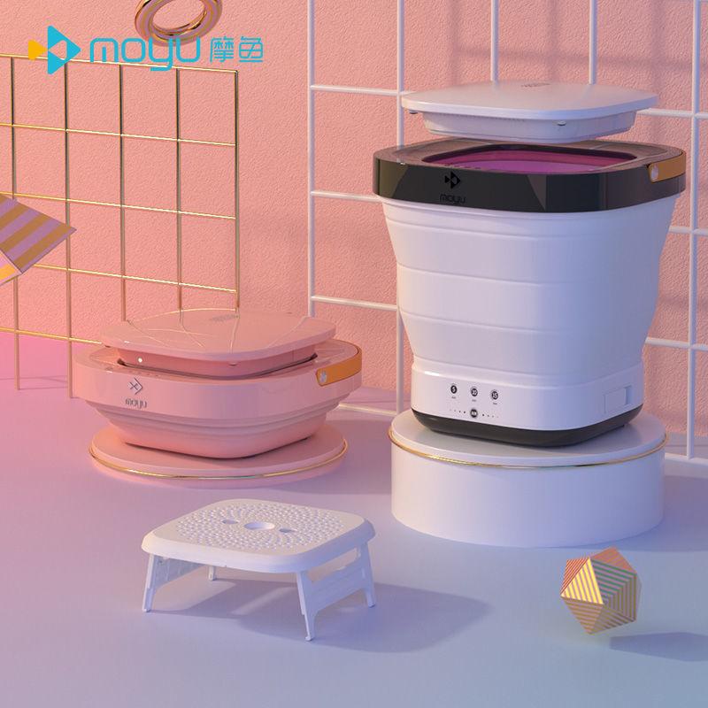 带烘干小型折叠洗衣机便携式洗脱一体学生宿舍婴儿家用洗袜子神器
