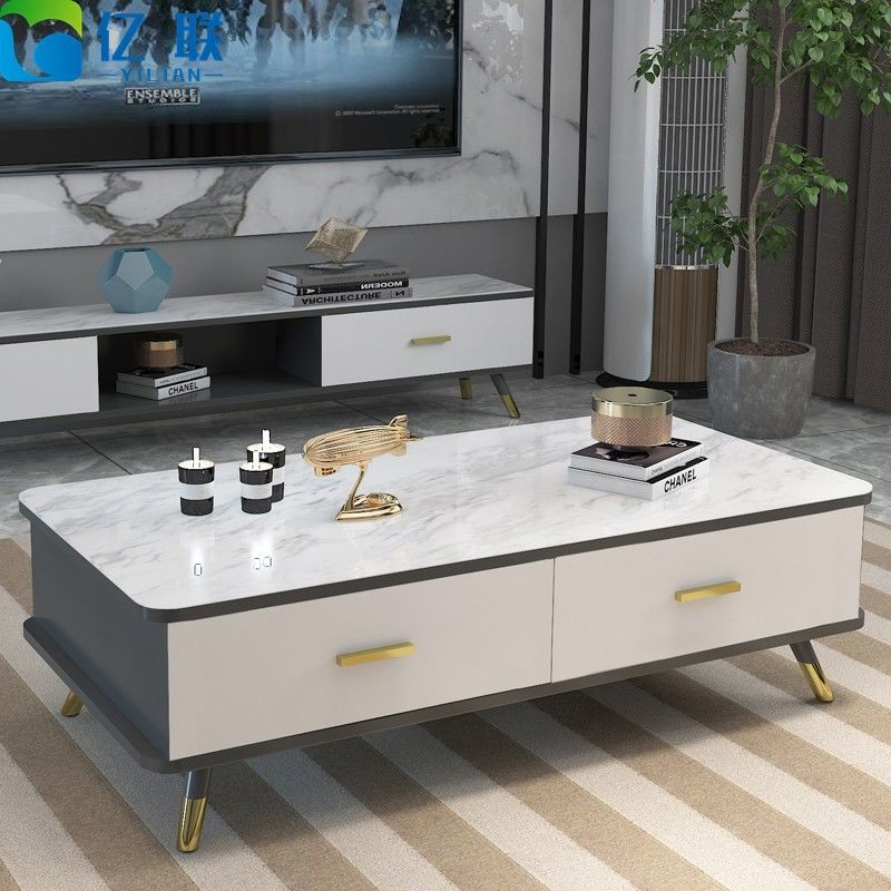 电视柜茶几组合桌现代简约客厅家用简易小户型经济型电视机柜地柜